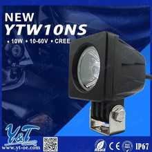 Y&T 10W led work head light/lamp projector DRL daytime running led projector fog light/lamps, motorcycle motobike quad