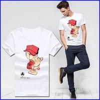 healthy printing custom design 100% cotton short sleeve kids cartoon t-shirt