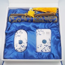 Gift items Mouse Cheap Wireless Mouse and power bank gift set