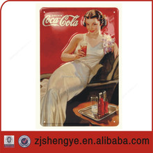 Embossed Outdoor advertising wall tin sign
