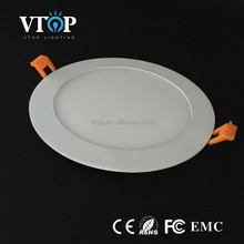 hot selling round shape recessed flat led panel 18w home&office light