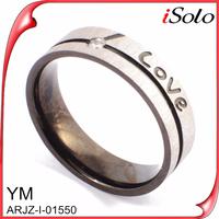 Custom stainless steel engagement rings china manufacturer man finger ring