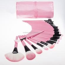 Hot sale top grade 32 pcs cosmetic brush portable cosmetic brush pink color