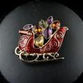 Cristal de colores vendimia de la aleación decorativo broche