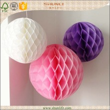 Best selling items tissue paper honeycomb decorations for christmas