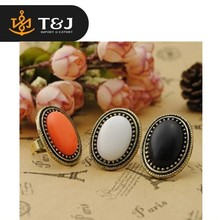 2015 new design hot sale European Style Personalized Fashion Vintage Oval Gem Retro Ring