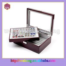 wooden gift presentation box cufflinks & wholesale cufflink boxes (WH-0314)
