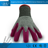 QL Top Quality And Golden Vendor For Nitrile Palm Coated Cutting Gloves