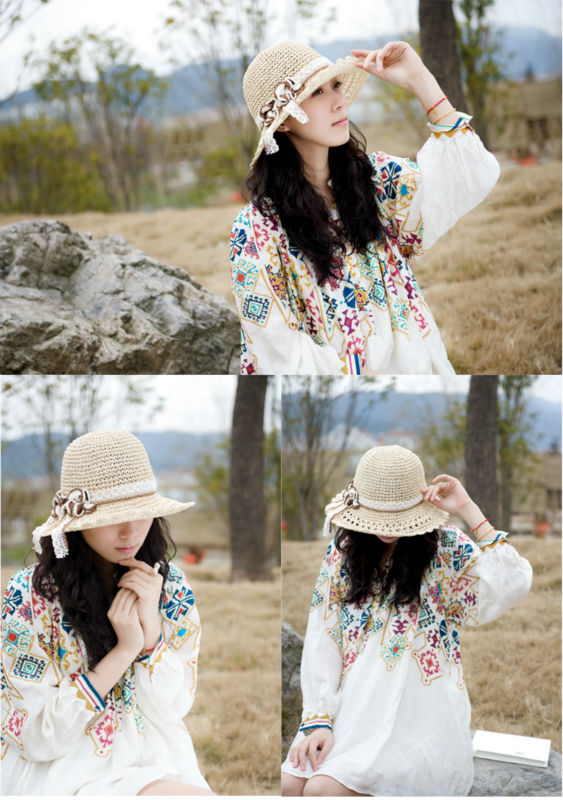 wholesale fashion lady's straw hat