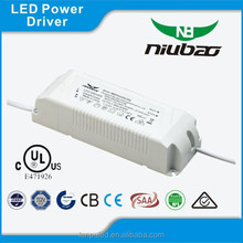 Hot sale UL wires constant current led driver 50W 1250mA IP20 for indoor Zhongshan factory