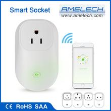 CE RoHS AC 100-240V White EU UK US AU App WiFi Remote Control Power Switch