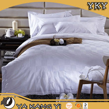 Luxury White Cotton Full Size Bedding For Hotel