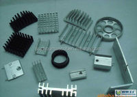 Black and white anodized aluminum heat sink for different electronics