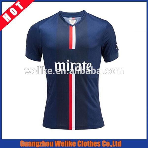 El último 14/15 tailandia psg original camiseta de fútbol de la copa mundial de fútbol uniforme de venta al por mayor
