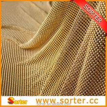 high quality scalloped edge lace fabric, wire fabric for room divider home decoration