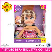 de plástico de moda muñeca cabeza se adapta a la muñeca americana
