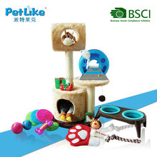 2015 China top ten selling toy Cat Furniture Luxury outdoor cat house