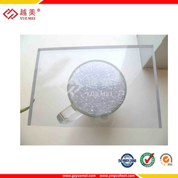 Polycarbonate plastic flat sheet roof building material