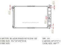 aluminium radiator For GM DPI 161
