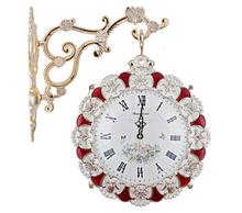 Isam Retro Wooden Wall Pendulum Clock for Home Hotel Decor