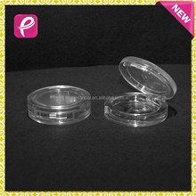 New round compact pressed powder container eyeshadow case