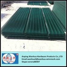 pvc coated welded mesh metal fence panel
