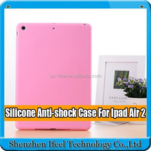Soft Silicone Rubber Gel Back Case Cover Shell unbreakable case for ipad air,for ipad air 2 silicone case