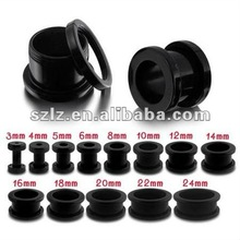 The latest black uv& acrylic ear plugs piercing