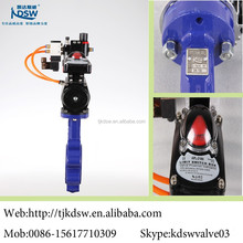 pneumatic flange tomoe butterfly valve for using in oil tube