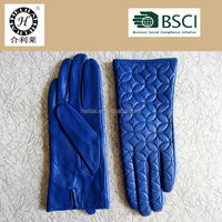 2016 new fashionable women's circle embroidery leather gloves