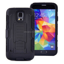 Hot selling future armor case belt clip back cover hybrid hard case for samsung galaxy s5