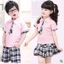 Kids Summer Clothes School Uniform Design Set For Girls And Boys Children Set