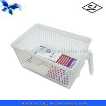 Large size multipurpose plastic pantry storage baskets with handle