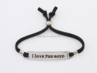 I LOVE YOU MORE letter tag bracelet custom letter metal charm bracelet cheap promotion