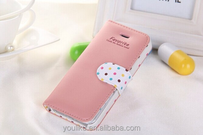 2014 new hight quality cell phone wallet case for huawei p7