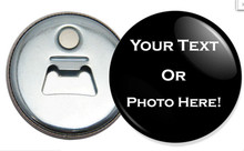 Promotion gift cheap custom color round bottle opener with magnetic refrigerator