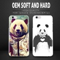 Cute Animal Design Cell Phone Case For Apple iPhone 6 6s plus Hard PC Slim Shell Case Cover