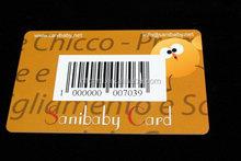 Popular unique mini pvc barcode vip card