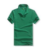 Cotton t-shirt plain green color polo shirt for women