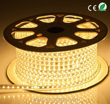 CE ROHS waterproof LED strip light 5050 60led/m easy installation 220v smd led strip