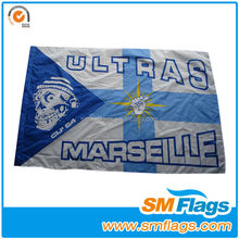 decorative knitted polyester flag for advertising