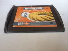 Carbon steel 2pcs flat cookie sheet/cake sheet