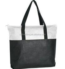 paper shopping bag with cotton handles/ nylon cotton drawing string shopping bag/ cheap printed shopping bag