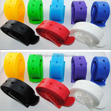 Colorful plastic belt/silicone rubber belt loved by men and women