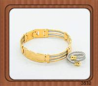 Fit for all sizes fashion gold locks wholesale wire cuff bangle expandable wire bangle stainless steel cable wire bangle