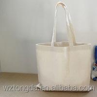Custom Eco Bags Tote 12oz Cotton Women's Shopping Blank Canvas Shoulder Bag
