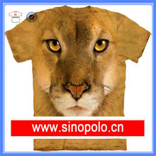 Sublimation printing polyester fabric 3D t shirt wholesale