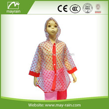 Transparent Rubber Rain Jacket/ Rain wear with pattern
