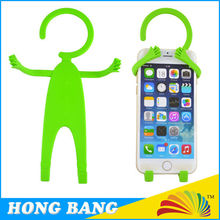 HBJ073 Funny Human Shaped Silicone Flexible Cell Phone Holder