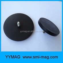 88mm Super strong Neodymium/NdFeB rubber pot magnet